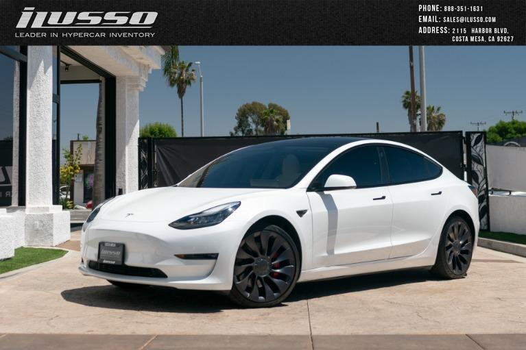 Used 2021 Tesla Model 3 Performance for sale Sold at Ilusso in Costa Mesa CA