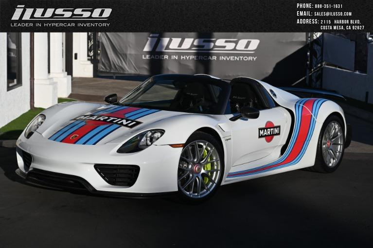 Used 2015 Porsche 918 Spyder Weissach with the Martini Racing Livery for sale Sold at Ilusso in Costa Mesa CA